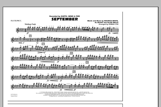 September - Flute/Piccolo (Marching Band)