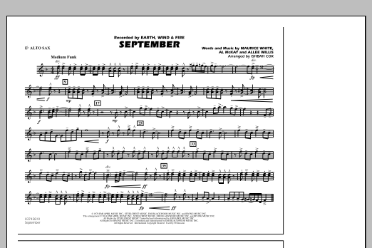 September - Eb Alto Sax (Marching Band)