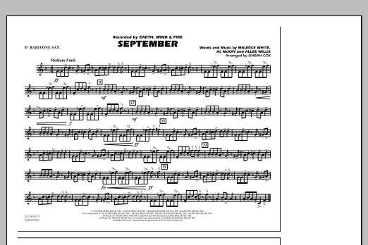 September - Eb Baritone Sax (Marching Band)