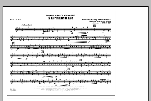 September - 1st Bb Trumpet (Marching Band)