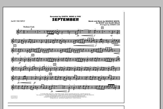 September - 2nd Bb Trumpet (Marching Band)