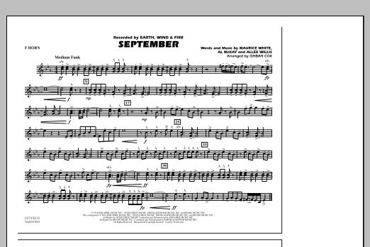 September - F Horn (Marching Band)
