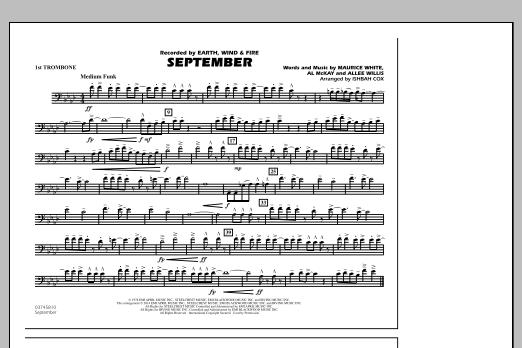 September - 1st Trombone (Marching Band)