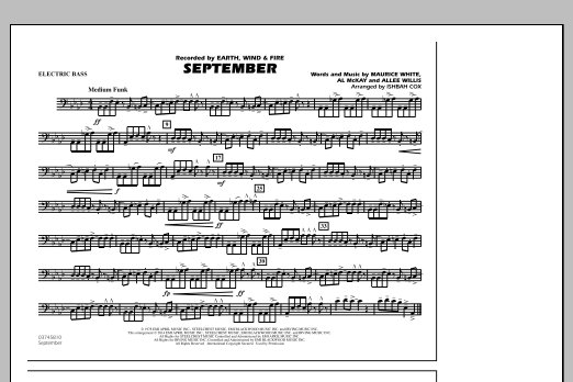 September - Electric Bass (Marching Band)