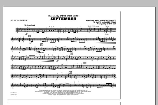 September - Bells/Xylophone (Marching Band)