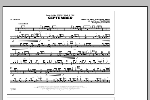 September - Quad Toms (Marching Band)