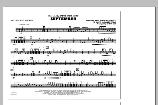September - Multiple Bass Drums (Marching Band)