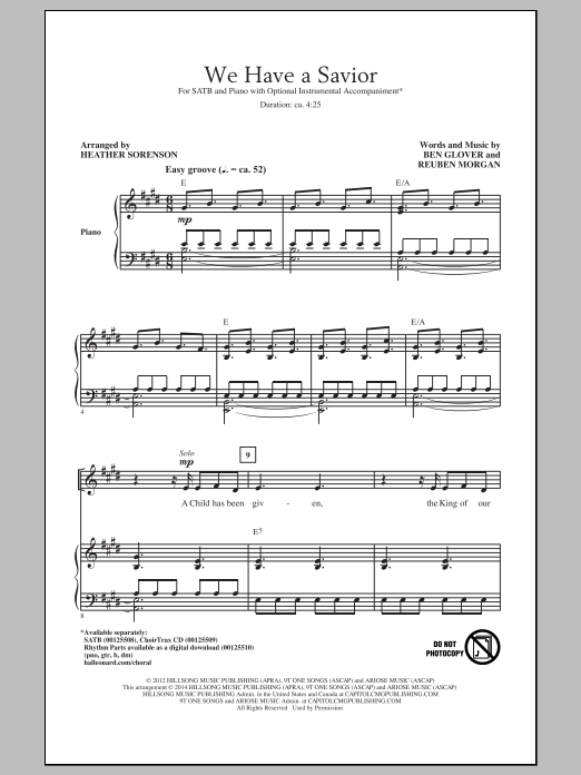 We Have A Savior Sheet Music