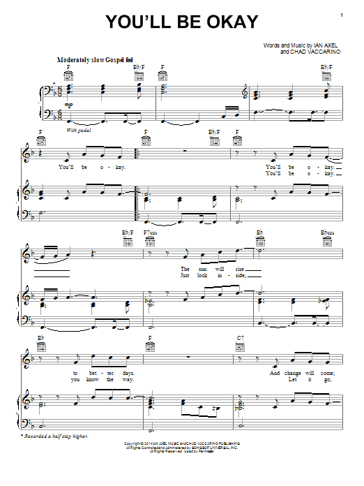 You'll Be Okay Sheet Music