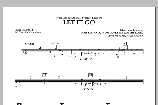 Let It Go (from Frozen) - Percussion 2 (Concert Band)