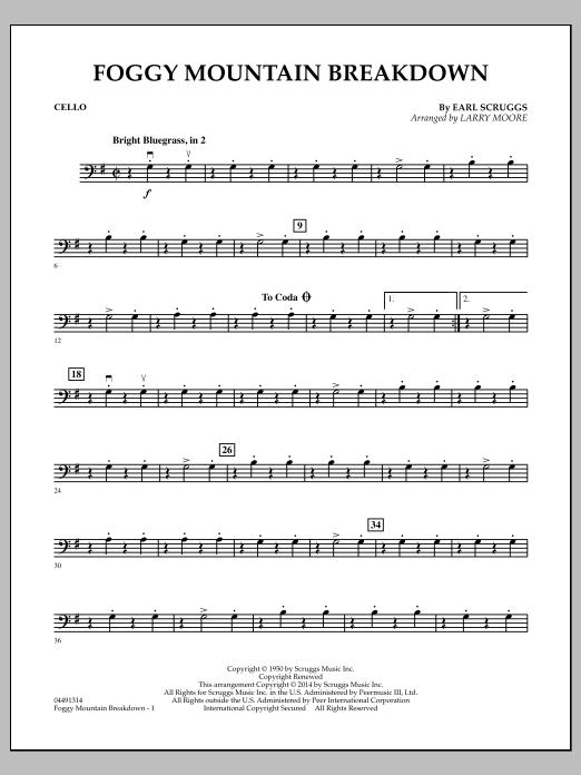 Foggy Mountain Breakdown - Cello (Orchestra)