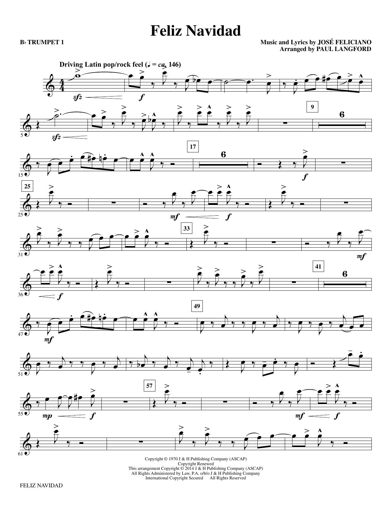 Music Sheet: Feliz Navidad Free Sheet Music Download