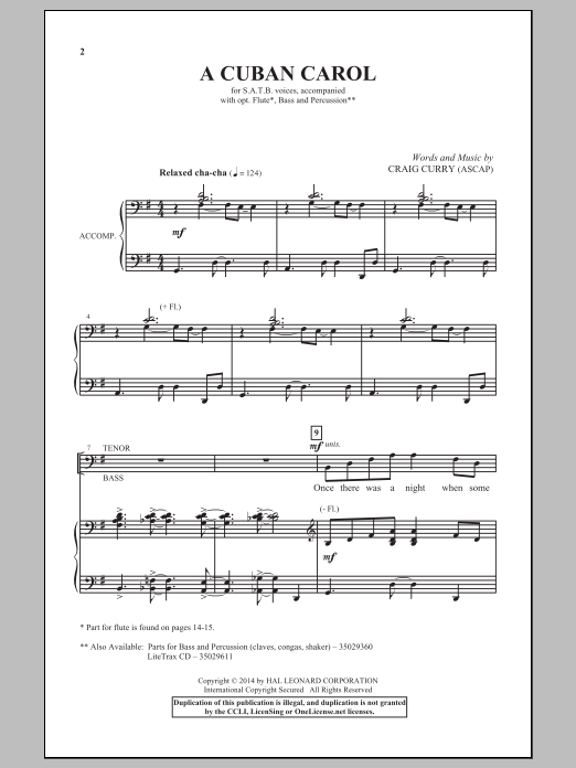 A Cuban Carol Sheet Music