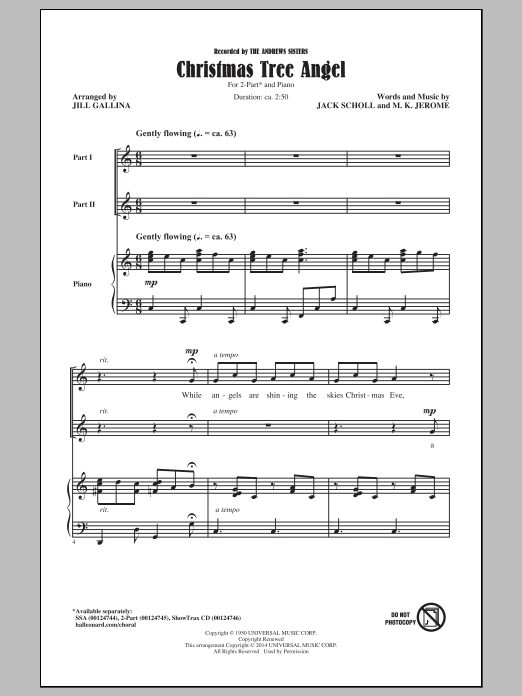 Christmas Tree Angel (arr. Jill Gallina) Sheet Music