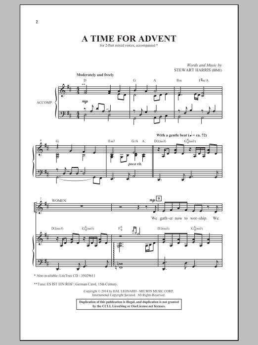 A Time For Advent Sheet Music
