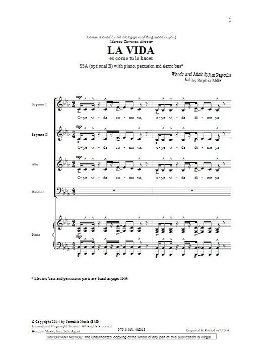 La Vida Sheet Music