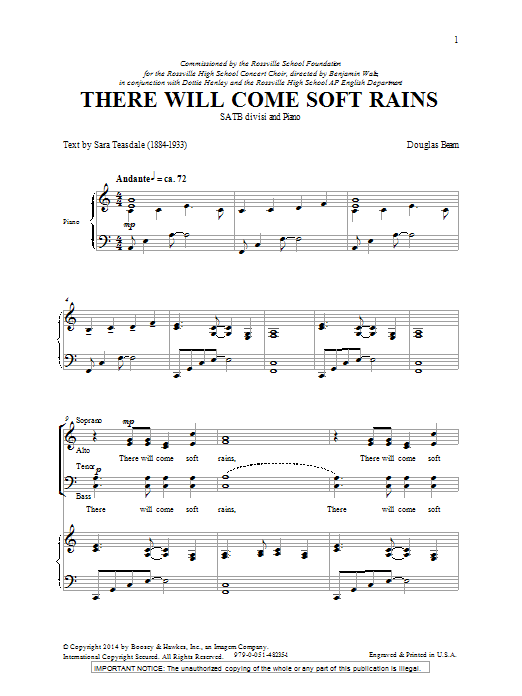 There Will Come Soft Rains Sheet Music