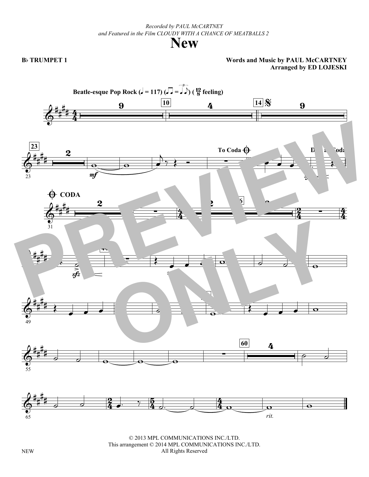 New - Trumpet 1 (Choir Instrumental Pak)