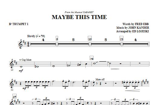 Maybe This Time - Trumpet 1 (Choir Instrumental Pak)