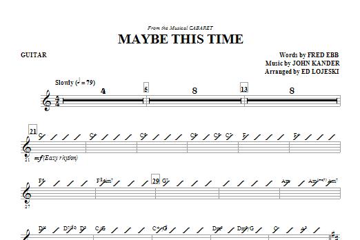 Maybe This Time - Guitar (Choir Instrumental Pak)