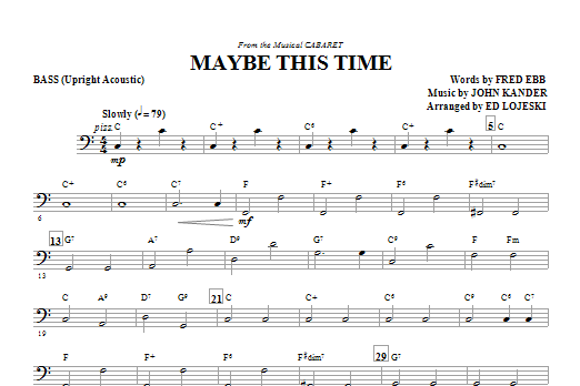 Maybe This Time - Bass (Choir Instrumental Pak)