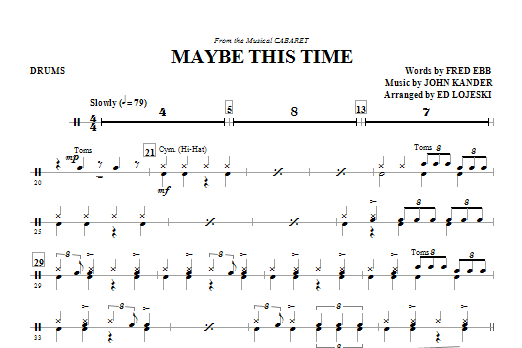 Maybe This Time - Drums (Choir Instrumental Pak)