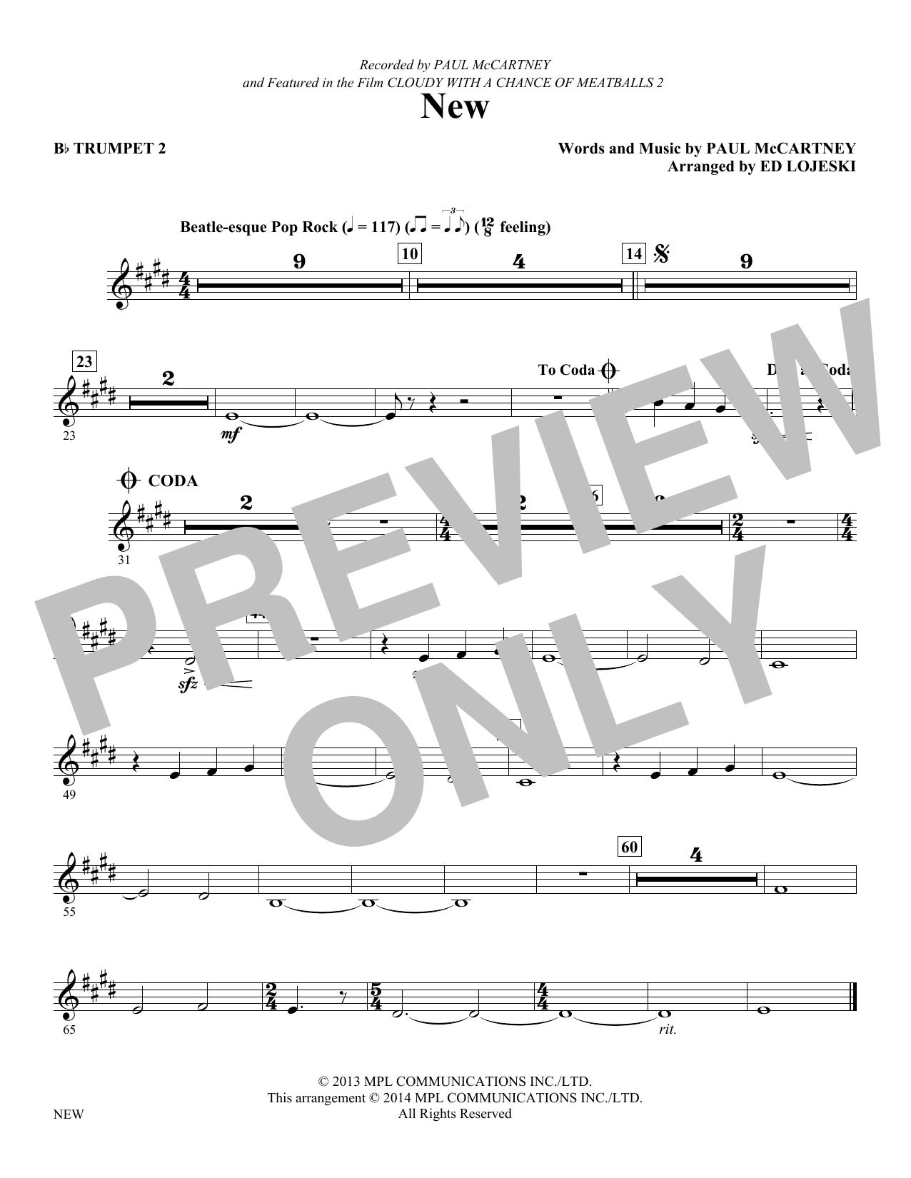 New - Trumpet 2 (Choir Instrumental Pak)