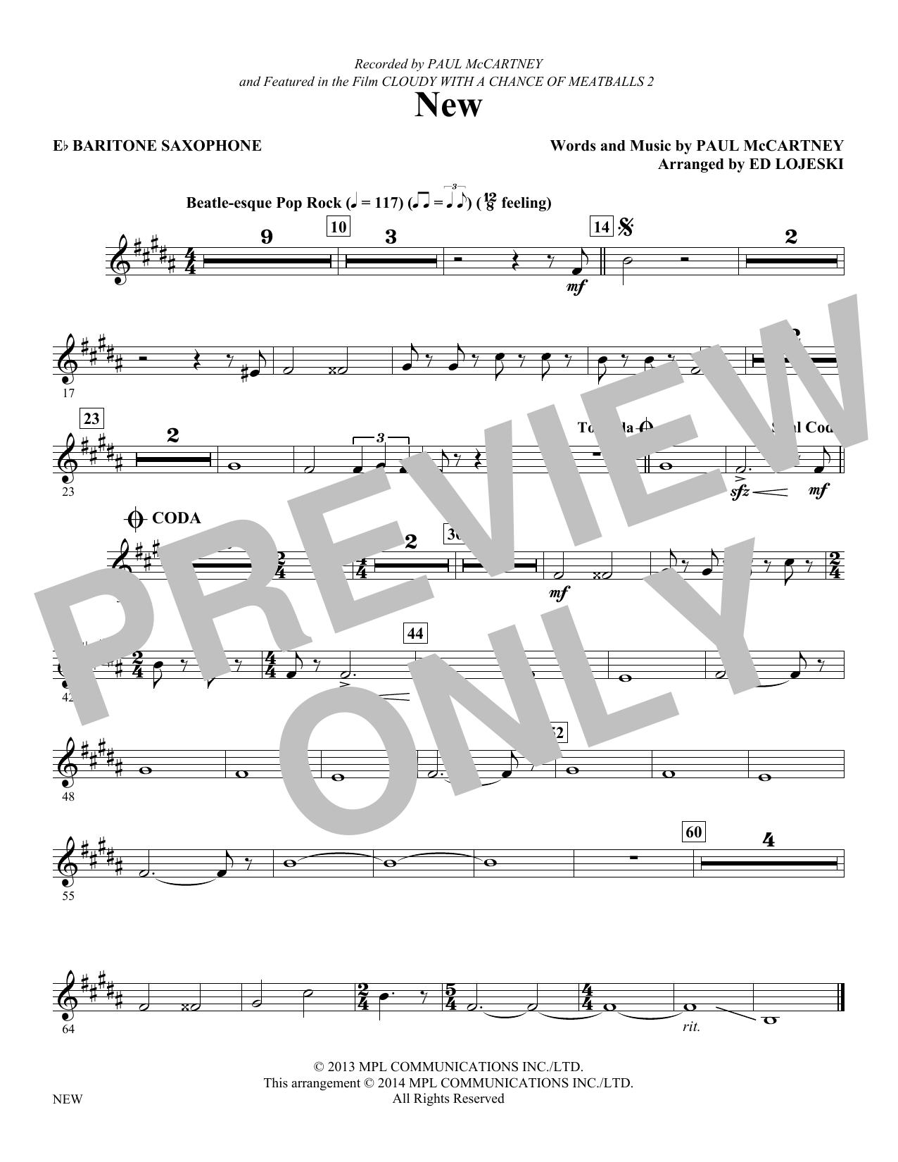 New - Baritone Sax (Choir Instrumental Pak)