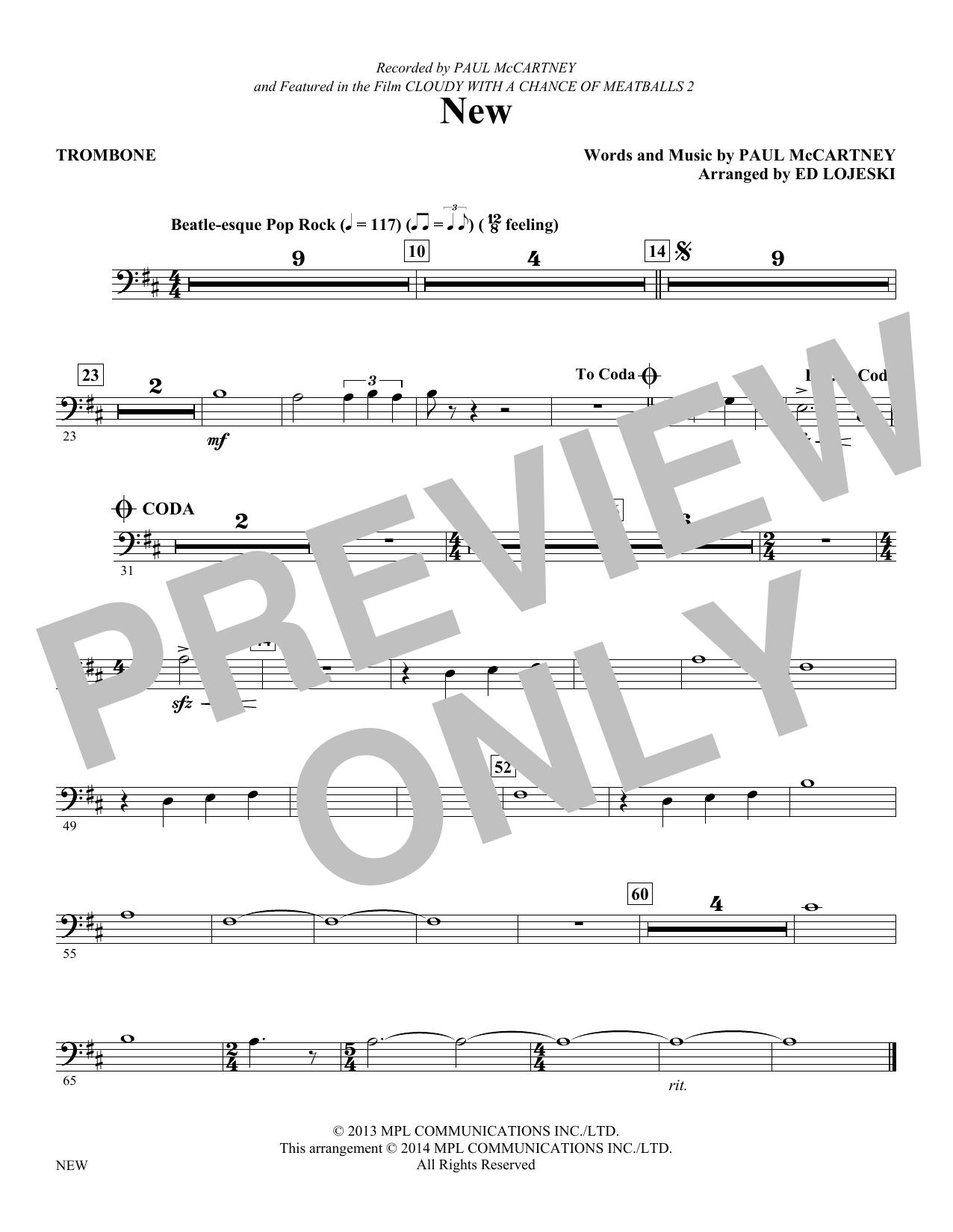 New - Trombone (Choir Instrumental Pak)