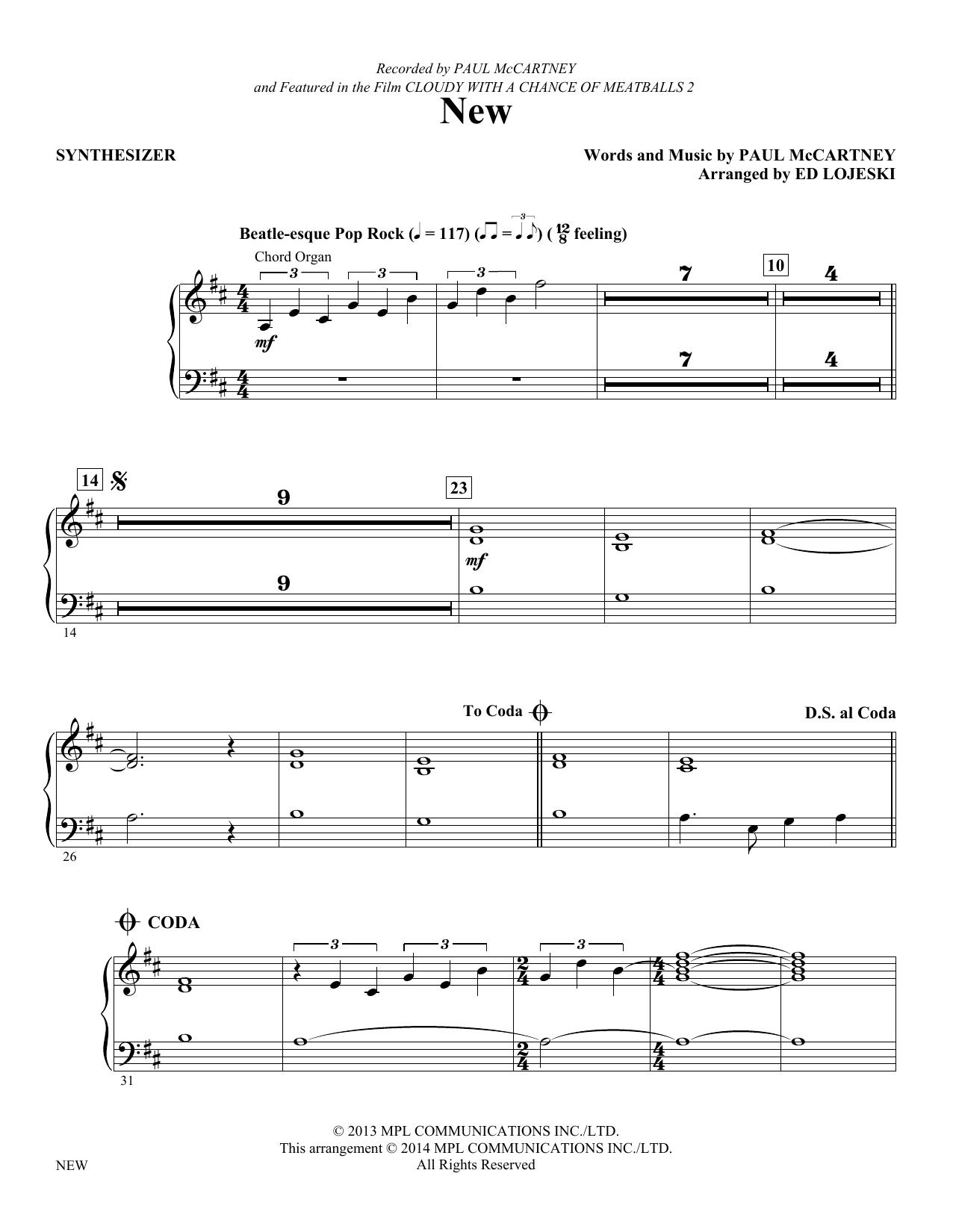 New - Synthesizer (Choir Instrumental Pak)