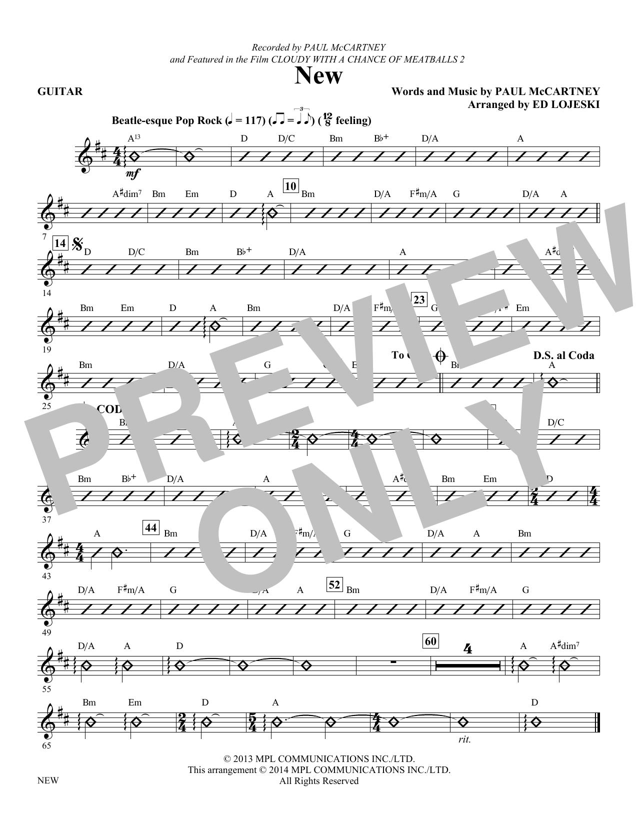 New - Guitar (Choir Instrumental Pak)