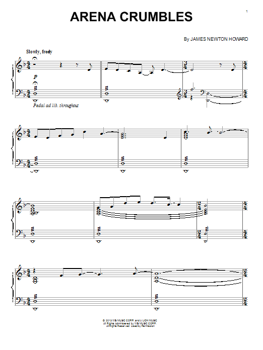Arena Crumbles Sheet Music