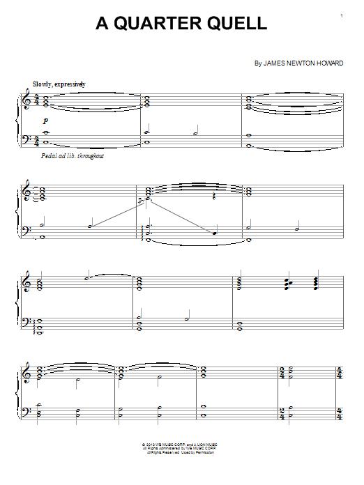 A Quarter Quell Sheet Music