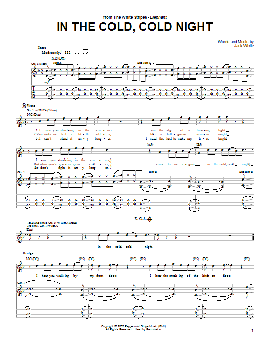 In The Cold, Cold Night Sheet Music
