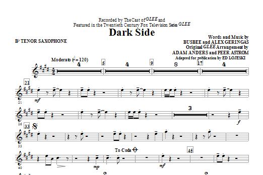 Dark Side - Bb Tenor Saxophone by Ed Lojeski Choir Instrumental Pak Digital  Sheet Music