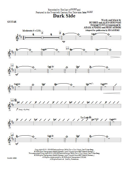 Dark Side - Guitar (Choir Instrumental Pak)