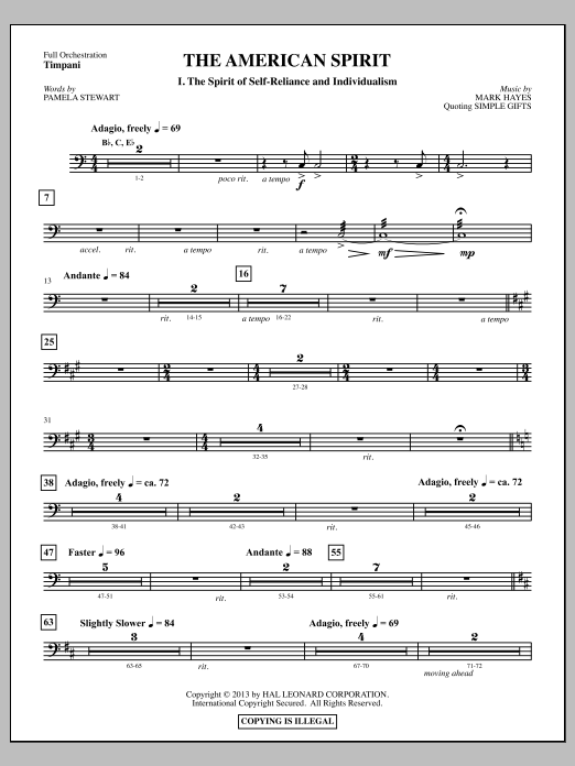 The American Spirit - Timpani Sheet Music