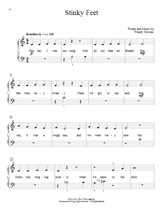 Stinky Feet Sheet Music