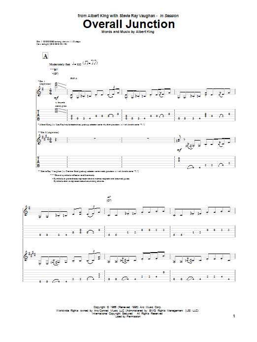 Overall Junction Sheet Music