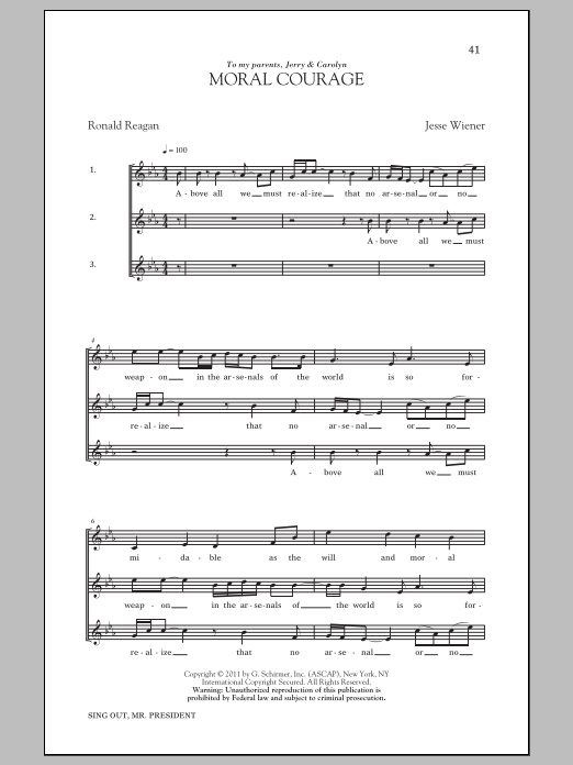 Moral Courage Sheet Music