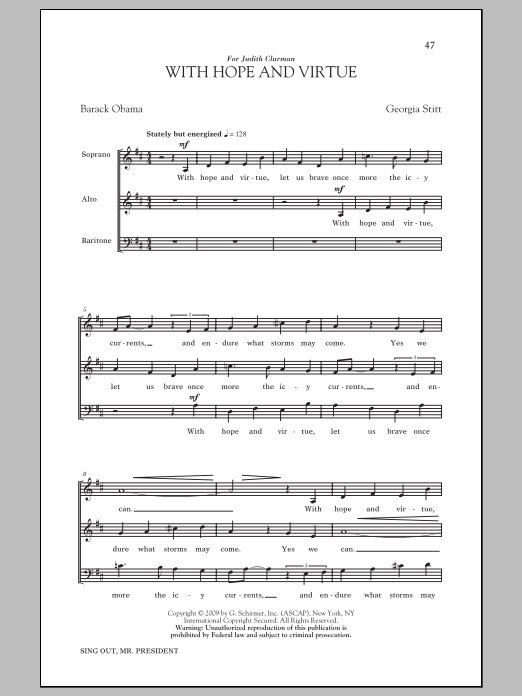 With Hope And Virtue Sheet Music