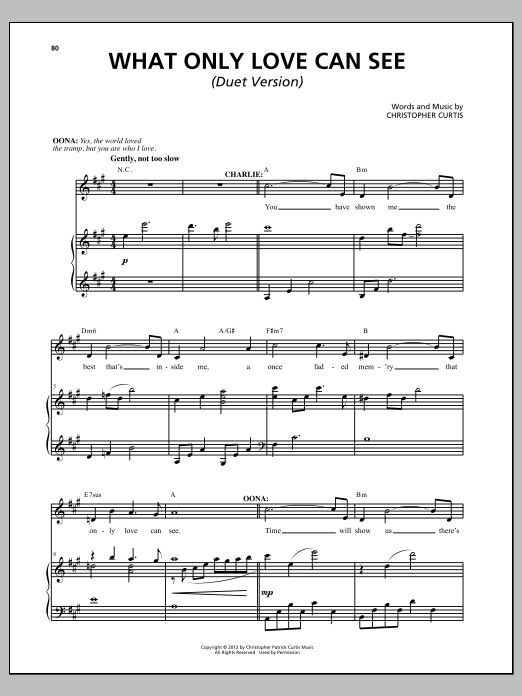 What Only Love Can See Sheet Music