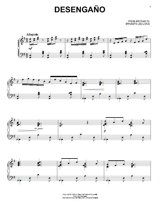 Partition piano Desengano de Paul Posnak - Piano Voix