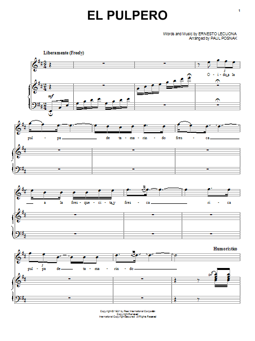 El Pulpero Sheet Music