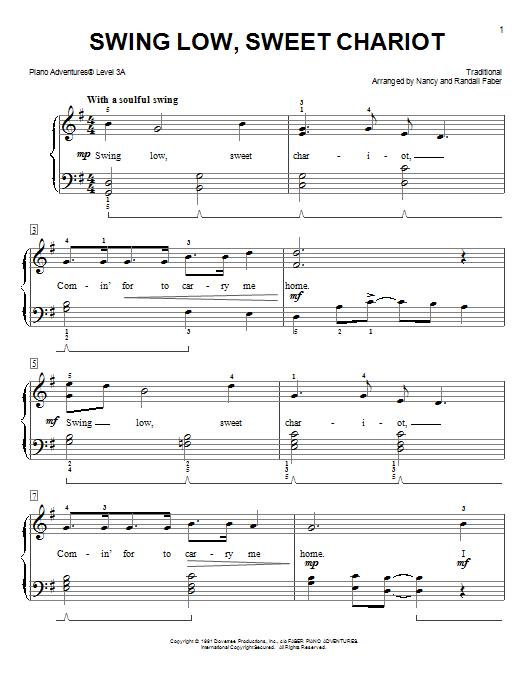 Swing Low, Sweet Chariot (Piano Adventures)