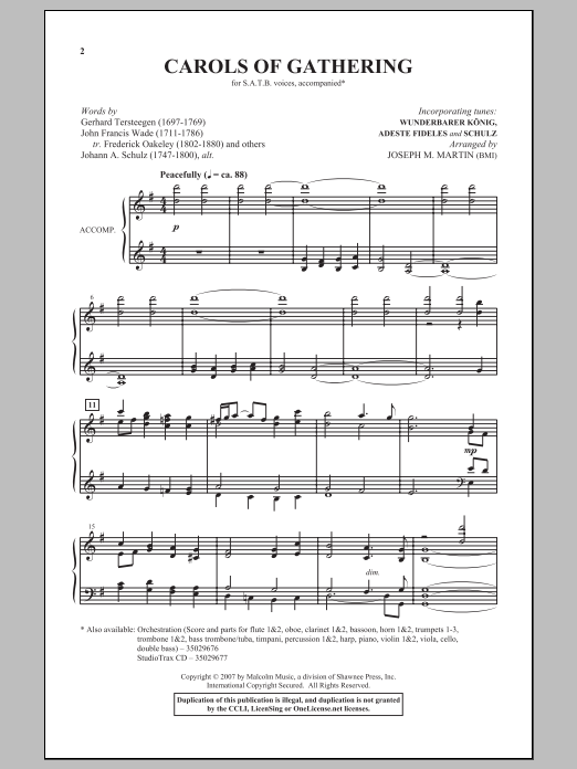 Carols Of Gathering Sheet Music