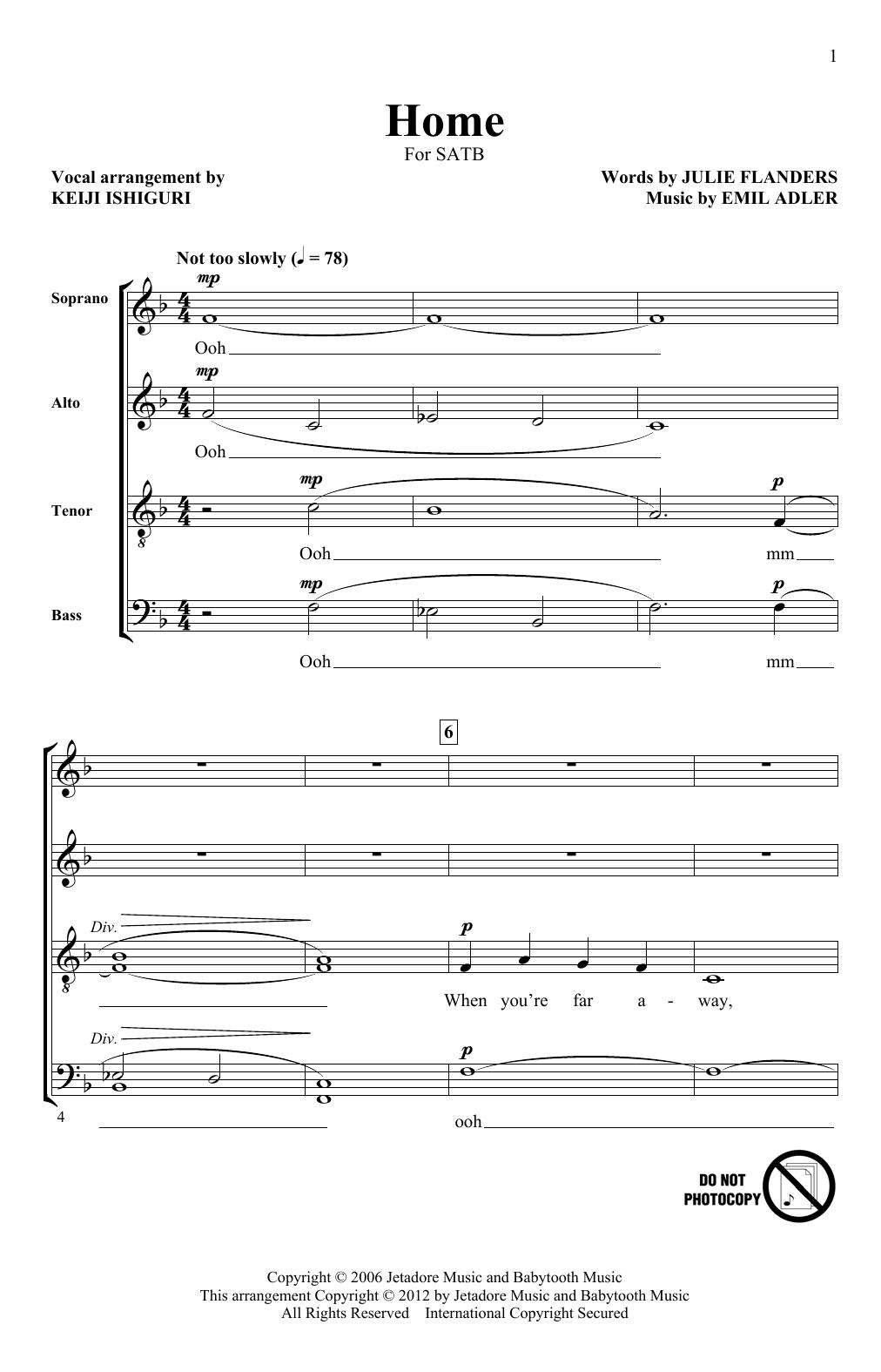 Home (SATB Choir)