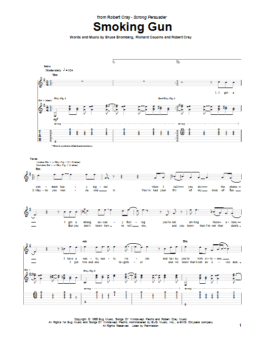 Tablature guitare Smoking Gun de Robert Cray - Tablature Guitare