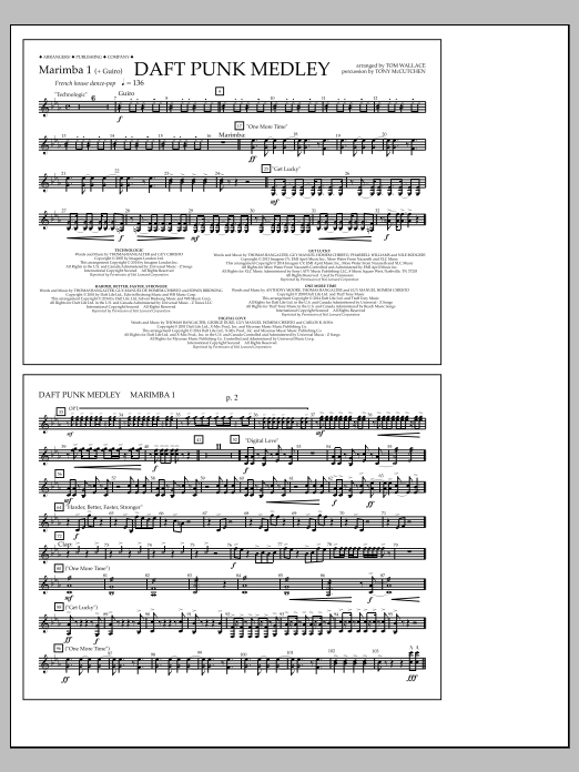Sheet Music Digital Files To Print - Licensed Marching Band