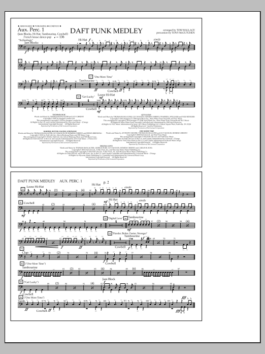 Sheet Music Digital Files To Print - Licensed Marching Band Digital